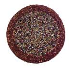 Click to view larger image of Czech Beaded Trivet Czechoslovakia Seed Beads Hand Made (Image6)
