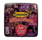 Click here to enlarge image and see more about item 34571: 1999 Crayola Advertising Tin Millennium 64 Crayons Calendar