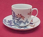 Japan Porcelain Ware Demitasse China Cup Saucer Vintage
