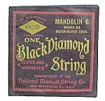 Click here to enlarge image and see more about item 36612: Black Diamond String Mandolin G Silver-Plated Steel