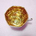 Click to view larger image of Vintage Child Demitasse China Cup Saucer with Gold Gilt (Image2)