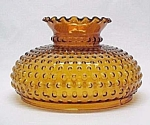 Click here to enlarge image and see more about item 37866: Hobnail Amber Glass 10 inch Student Lamp Shade Vintage