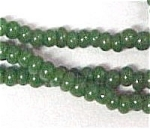 Click here to enlarge image and see more about item 399: Faux Jade Glass 2mm Seed Beads 68 inch Jewelry Crafting