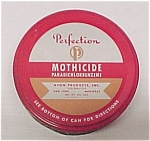 Click here to enlarge image and see more about item 41232: Perfection Mothicide Tin Can Avon Products Inc. Vintage