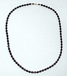 Click here to enlarge image and see more about item 42477: Jet Black Faceted Glass Bead 30 inch Necklace Czech ?