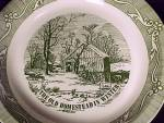 Click to view larger image of Old Homestead in Winter Deep Dish 10 in Pie Plate Currier & Ives Royal (Image3)