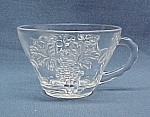 Click here to enlarge image and see more about item 434: Anchor Hocking Vintage Arbor Grape Punch Snack Set Cup