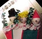 Click to view larger image of 3 Wrapped Spun Cotton Chenille Christmas Package Ornament Stocking (Image2)