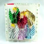 6 Angel Christmas Package Stickers SS Kresge Foil Plastic Ornaments