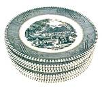 9 Currier & Ives Bread Butter Plates 6 3/8 in Royal China
