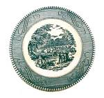 Click to view larger image of 9 Currier & Ives Bread Butter Plates 6 3/8 in Royal China (Image2)