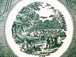 Click to view larger image of 9 Currier & Ives Bread Butter Plates 6 3/8 in Royal China (Image3)