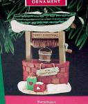 Click here to enlarge image and see more about item 44767: 1990 Hallmark Christmas Tree Ornament Sweetheart Wishing Well