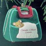 Click here to enlarge image and see more about item 44771: 1993 Hallmark Miniature Christmas Tree Ornament Bowling for ZZZs Bag