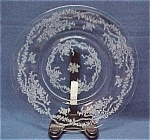 Click here to enlarge image and see more about item 44951: Fostoria Elegant Glass Romance Salad Luncheon Plate