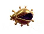 Western Germany Beetle Bug Pin Brooch Sapphire Vintage