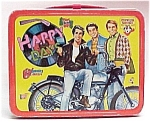 Click here to enlarge image and see more about item 45020: 1976 Happy Days Lunchbox Lunch Box Fonz TV Show