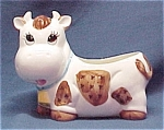 Click here to enlarge image and see more about item 45534: Josef Happy Cow Planter or Sugar Bowl with Clover