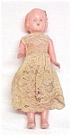 Click here to enlarge image and see more about item 45565: Banner Hard Plastic 6 inch Doll in Lace Dress Vintage