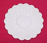Westmoreland Paneled Grape Milk Glass Saucer Underplate