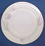 Click here to enlarge image and see more about item 46459: Homer Laughlin TULIP China Salad Plate Pastel Tulips