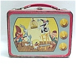 Click here to enlarge image and see more about item 47176: Looney Tunes 1959 Lunchbox Metal Warner Bros Vintage