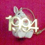 Click to view larger image of Hallmark 1994 Bunny Rabbit Christmas Ornament Fabulous Decade Series 5 (Image4)