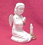 Click here to enlarge image and see more about item 47668: Praying Angel with Candlestick Made in Japan Figurine