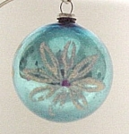 Click here to enlarge image and see more about item 477: WWII War Era JAPAN Christmas Tree Ornament Hptd FLORAL