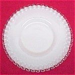 Fenton Silvercrest Salad Plate 8.5 inch Milk Glass