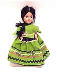 Click here to enlarge image and see more about item 48261: Composition Doll Spanish Mexican Peasant Girl