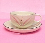 Click here to enlarge image and see more about item 48379: Winfield China Dragon Flower Cup Saucer Calif Pottery