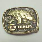 Click here to enlarge image and see more about item 83144: Napa Echlin Solid Brass Belt Buckle Vintage Auto Parts