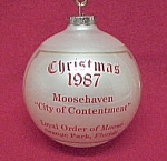 Click here to enlarge image and see more about item 490: Loyal Order of Moose Christmas Ornament Orange Park FL
