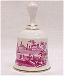 Click here to enlarge image and see more about item 49236: Spode Red Transferware Bone China Bell Danbury Mint