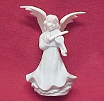 Click here to enlarge image and see more about item 50581: Blue & White 5 in Angel Figurine Playing a Violin Japan