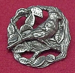 Click here to enlarge image and see more about item 50985: 1999 Birds & Bloom Pewter Cardinal Figural Pin Brooch