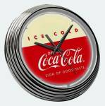 Click here to enlarge image and see more about item 51396: Neon Wall Clock Sign Coca Cola Coke Advertising Soda New in Box