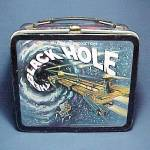 Click here to enlarge image and see more about item 51398: Black Hole Metal Lunch Box Walt Disney Lunchbox Vintage