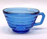 Click here to enlarge image and see more about item 51409: Moderntone Cobalt Cup Hazel Atlas Depression Glass
