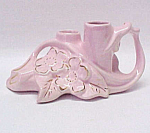 Pearl China Flower Frog Pink 22 KT American Art Pottery