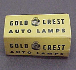 Click here to enlarge image and see more about item 52431: Vintage Gold Crest Auto Automobile Lamp Light Bulb 6-8V