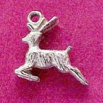 Click here to enlarge image and see more about item 53189: Leaping Deer Sterling Silver Bracelet Charm Vintage
