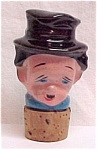 Click here to enlarge image and see more about item 54188: Ceramic Bottle Decanter Stopper Man Toby