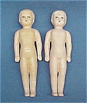 Click here to enlarge image and see more about item 55301: Pair Celluloid BOY Doll 6 inch Vintage Toy 2 Dolls Lot