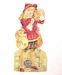 Click to view larger image of Victorian Lion Coffee Trade Card with Children's Dolls (Image1)