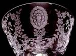 Click to view larger image of Tiffin Franciscan June Night Etched Floral Low Sherbet (Image3)