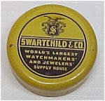 Click here to enlarge image and see more about item 55759: Swartchild & Co. Watchmakers & Jewelers Tin