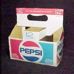 Click to view larger image of Pepsi Cola 6 Cnt 12 oz Soda Pop Bottle Cardboard Carton Advertising  (Image2)