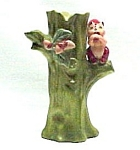Enesco Figural Squirrel & Acorns Tree Trunk Vase VNTG
